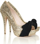 sparkly high heeled shoe
