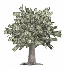 tree made of money