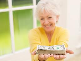 Grandmother giving stock of money for college savings