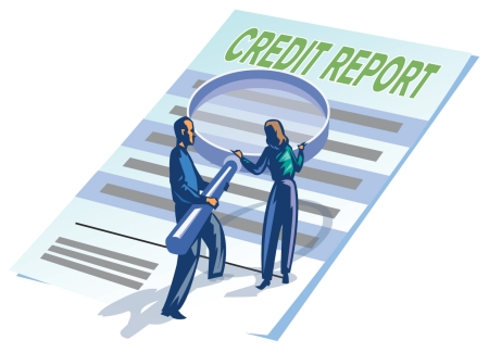 credit report cartoon