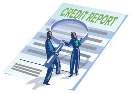 credit report cartoon