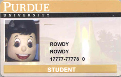 example Purdue student ID