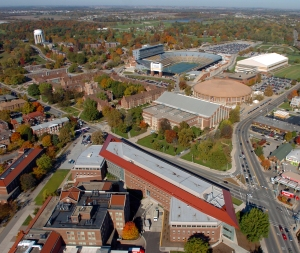 Aerial photos of Purdue University