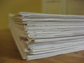 Stack of homework