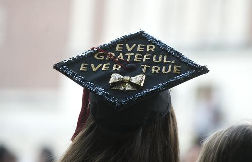 how to take button off graduation cap