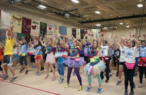 students dancing in costumes