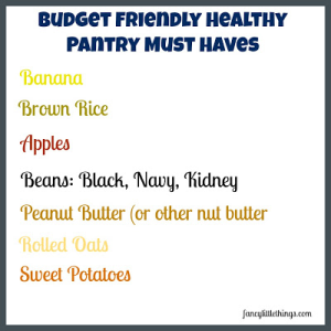 list of healthy foods