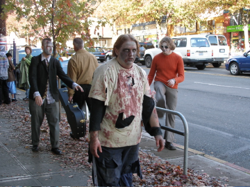 zombies on the street