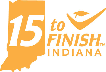 Indiana 15 to Finish logo