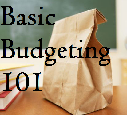 brown bag with text overlay: Basic Budgeting 101