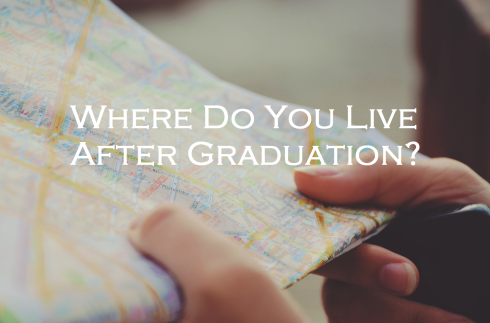 Road Map; Text Overlay: Where Do You Live After Graduation?