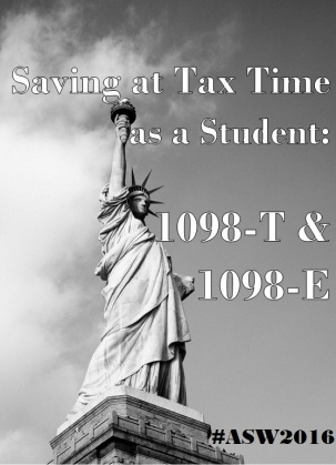 America Saves Week Day4 Saving at Tax time 1098-t 1098-e