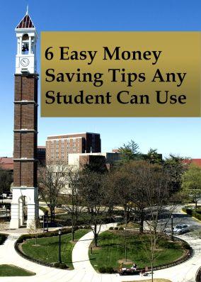 6 Easy Money Saving Tips